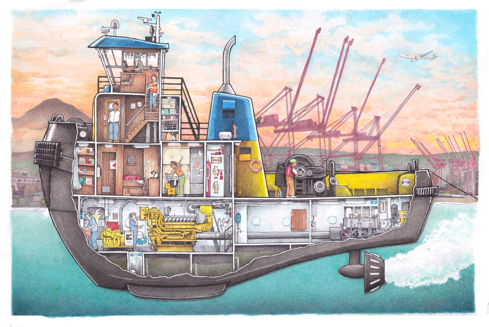 "Image of Tug No. 4  13"" X 19"""