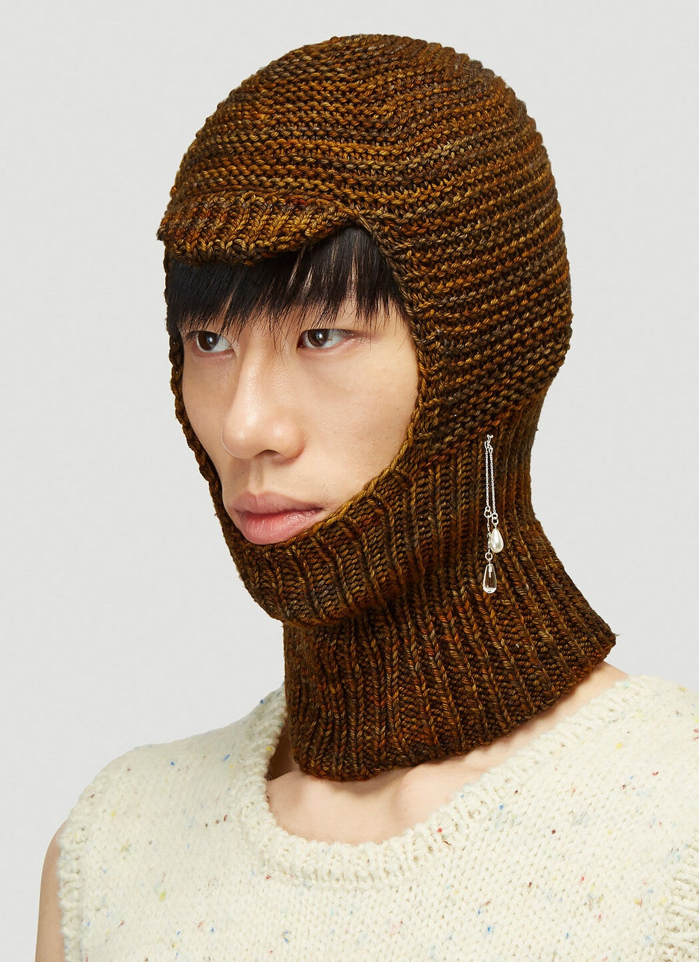 Image of AUTUMN BROWN WOOL BALACLAVA