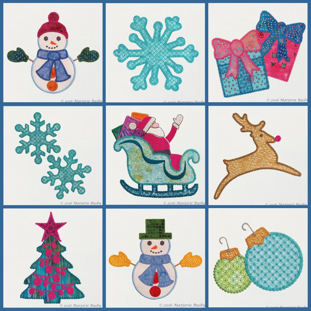 Image of Holiday Elements Machine Embroidery Designs