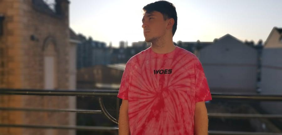 Image of Pink/Black Tie Die (Consider a Size Up)