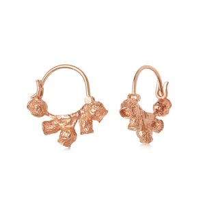 Image of Rose Gold Vermeil Gumnut Hoops