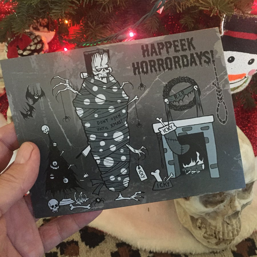 Image of HAPPEEK HORRORDAYS! -  CHRISTMAS CARD
