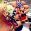 "2.5"" Holo/Rainbow Promare charms"