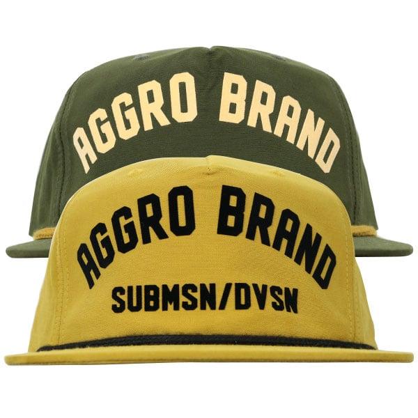 "Image of AGGRO BRAND ""RIDDIM"" 5 Panel Snapback Hat"