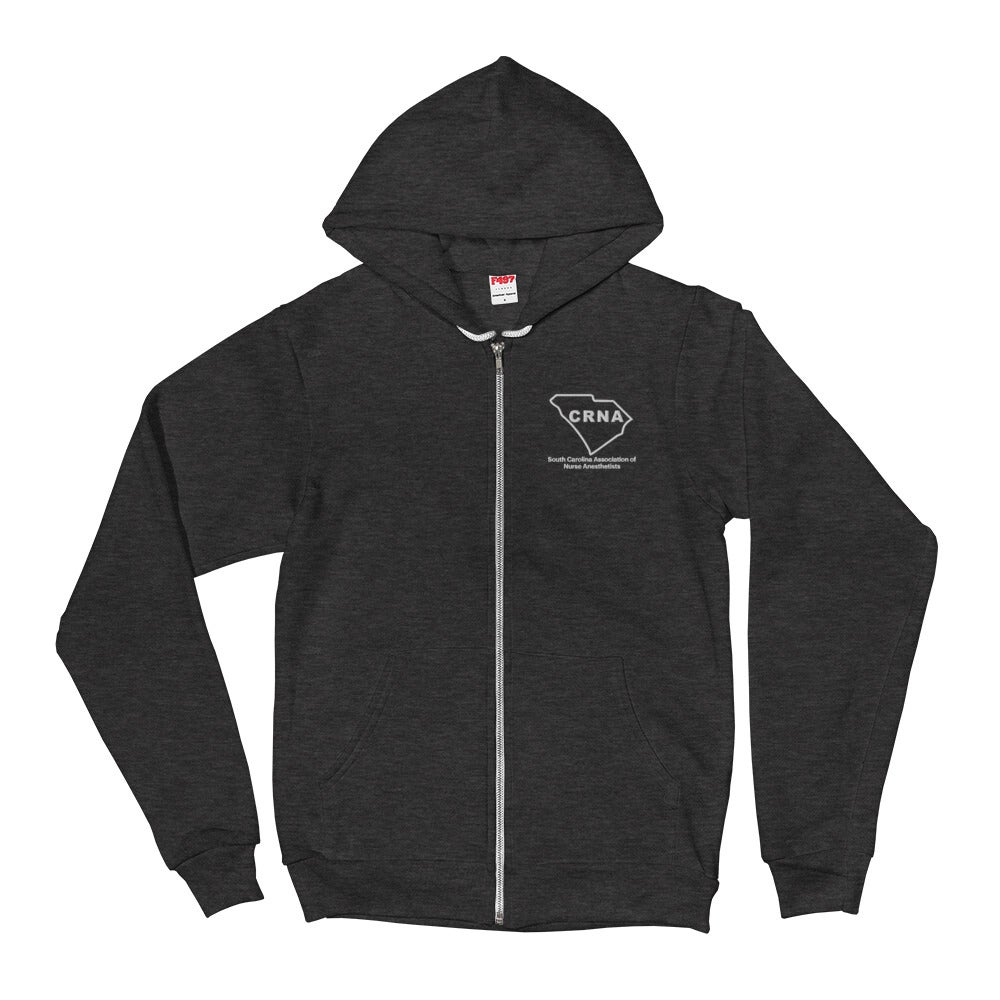 Image of Zip Up Hoodie - Embroidered
