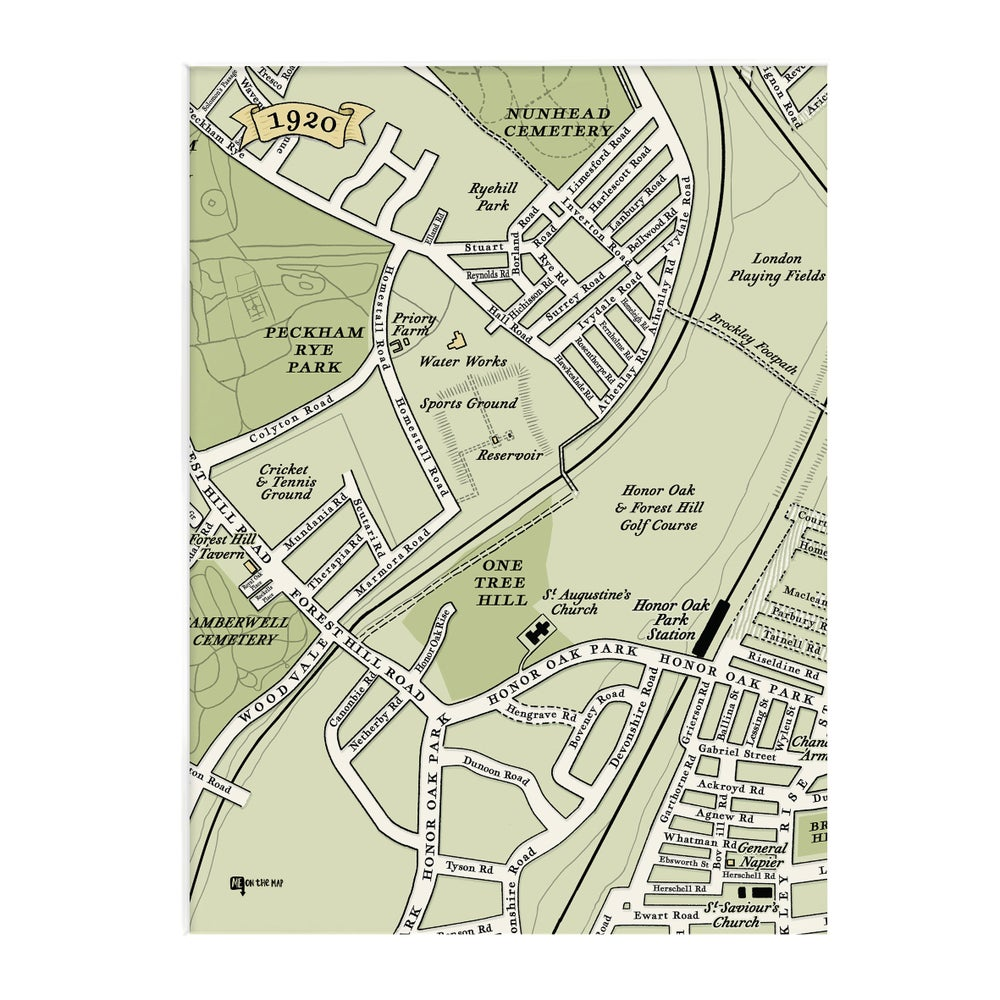 Image of One Hundred Years Map trio – Nunhead - SE15 - Honor Oak - SE23 - SE22