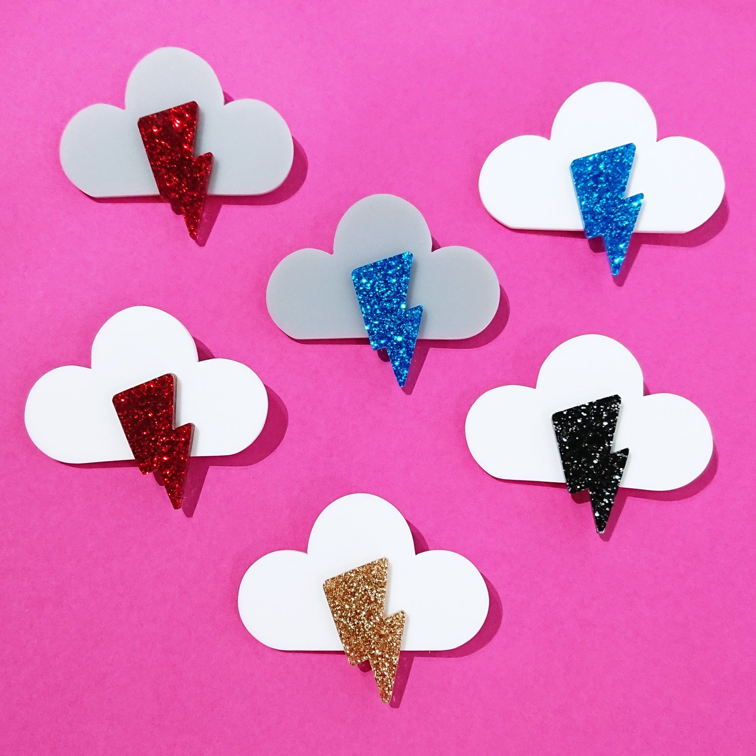 Image of Sparkly Cloud Brooch