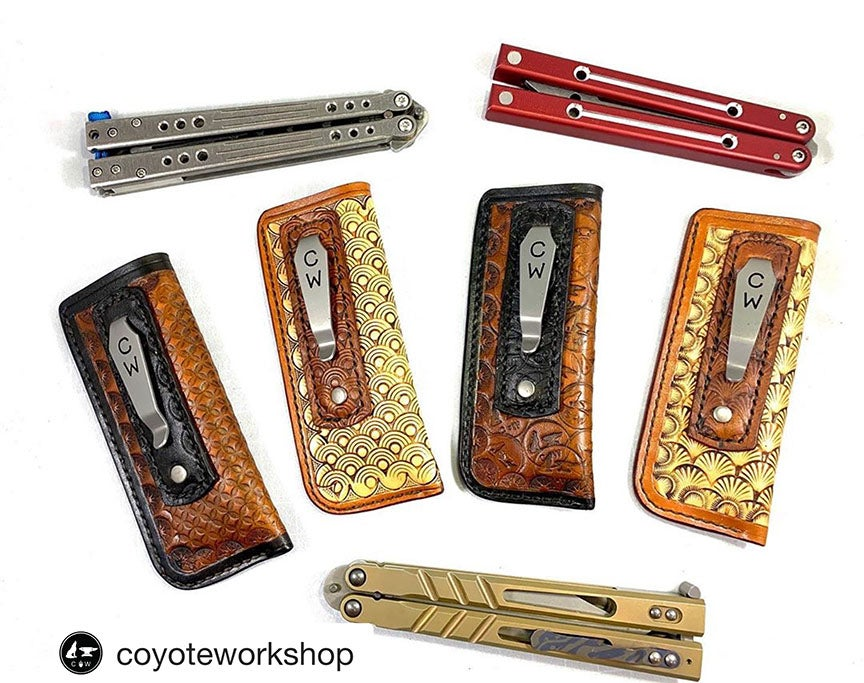 Image of Special Order Custom Balisong Pocket Clip Slip - Sheath