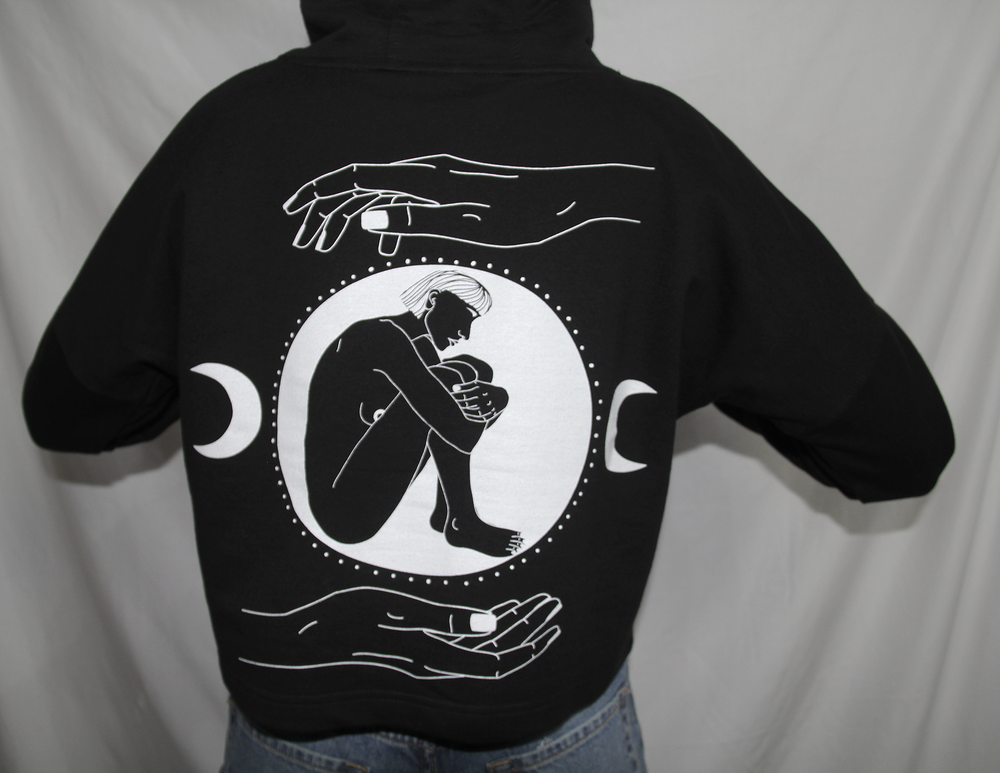 """Image of """"HOLD YOUR OWN"""" - Organic cropped hoodie"""