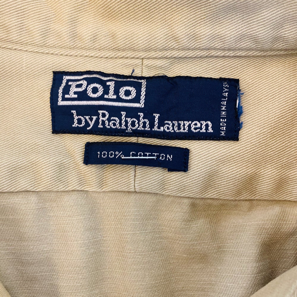Image of Vintage Polo Ralph Lauren Wildlife Khaki Button Up
