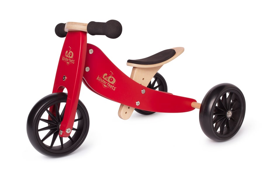 Image of NEW! Cherry Red Tiny Tot 2-1 tricycle/balance bike!