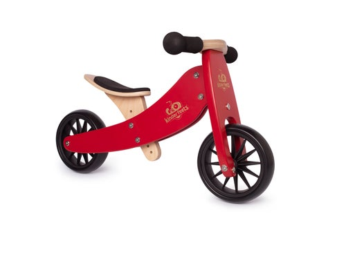 Image of 2-in-1 Tiny Tot Tricycle & Balance Bike Cherry Red. New color!