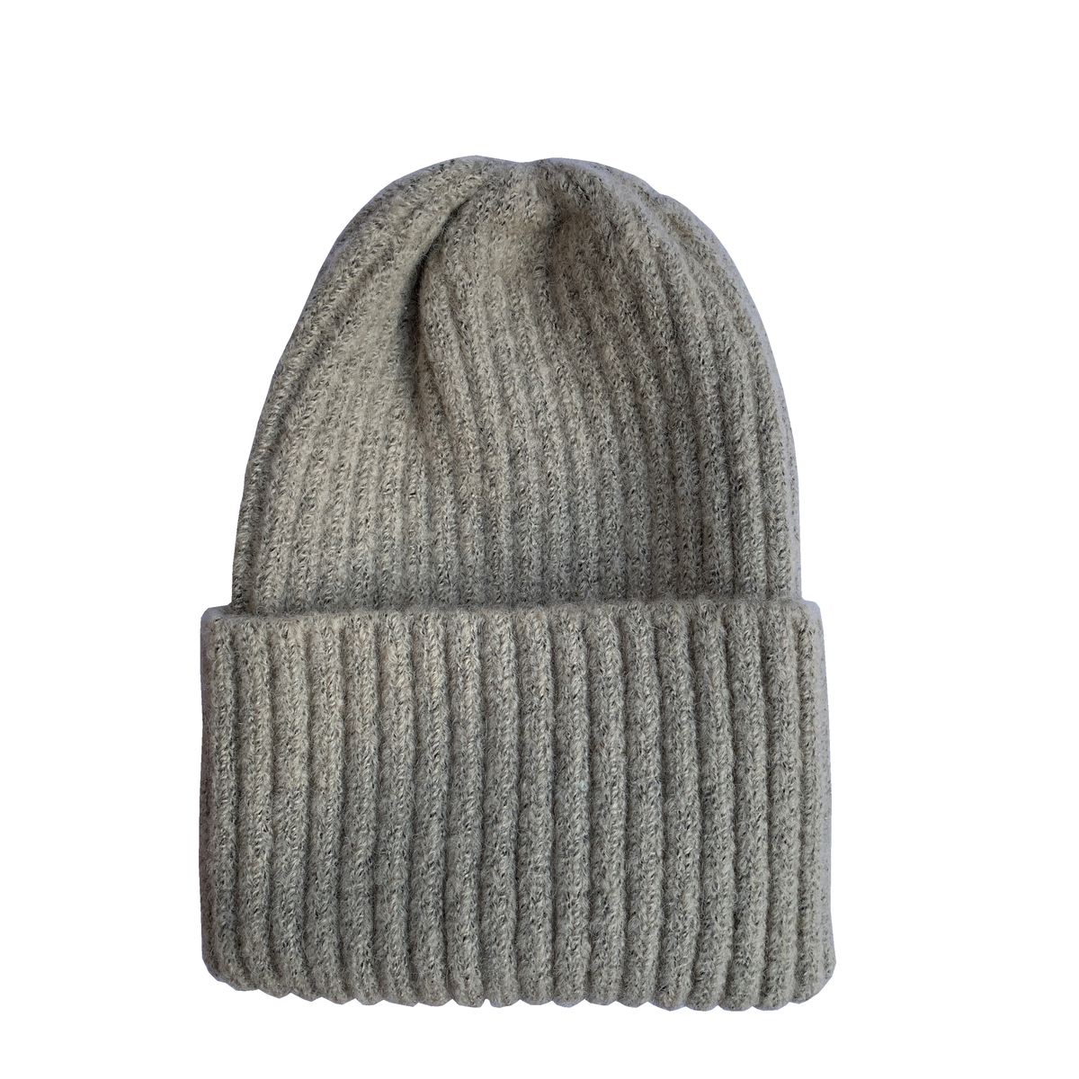 Image of Soft fisherman's style beanie/ watch cap. Beige