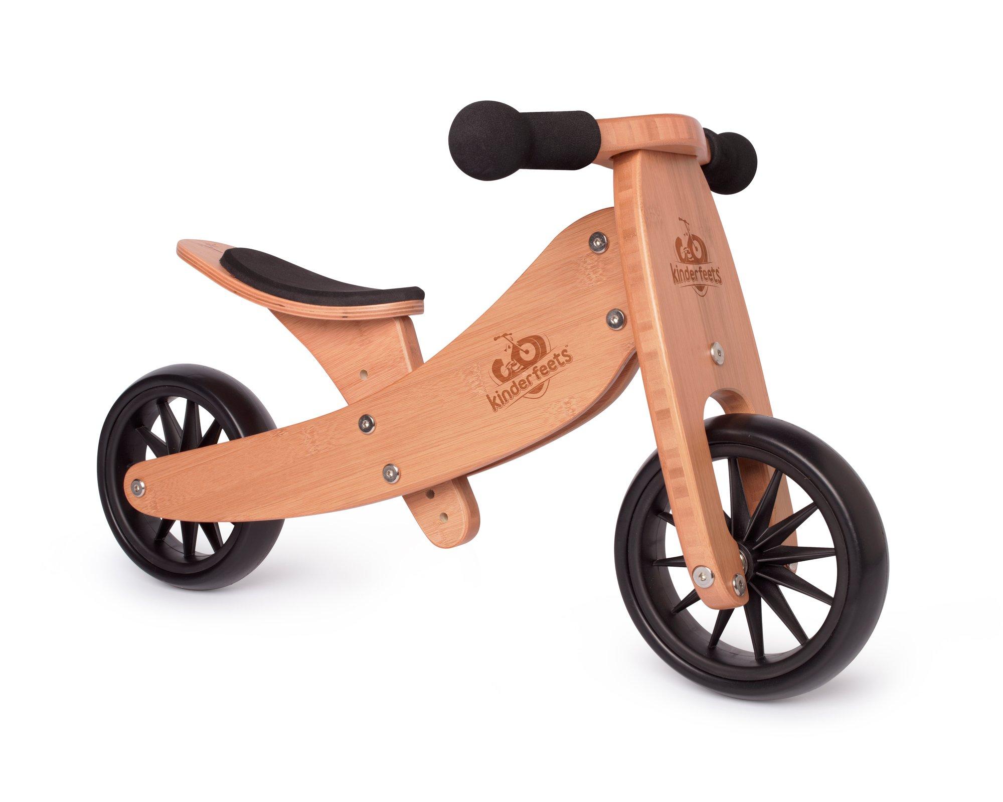 Kinderfeets 174 Bamboo Tiny Tot 2 1 Tricycle Balance Bike