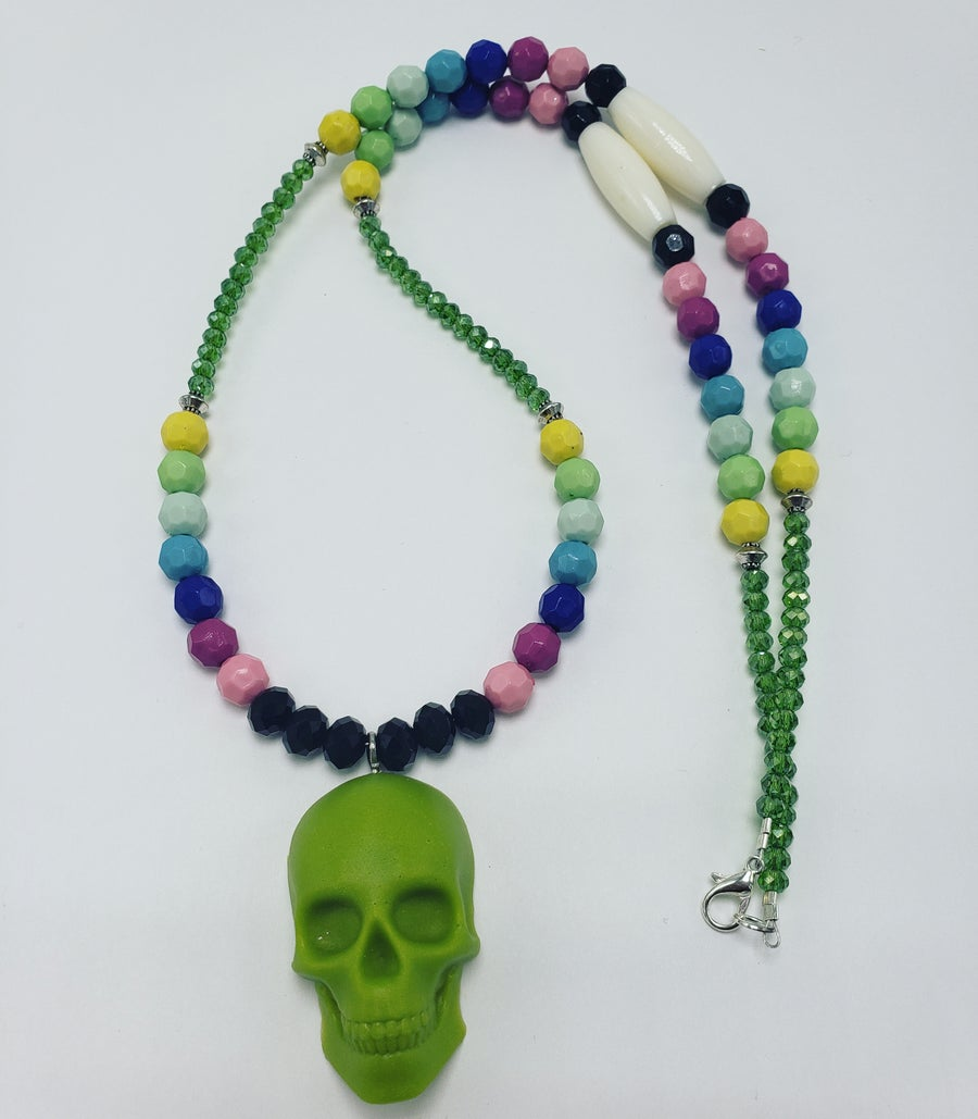 Image of Resin skull necklace