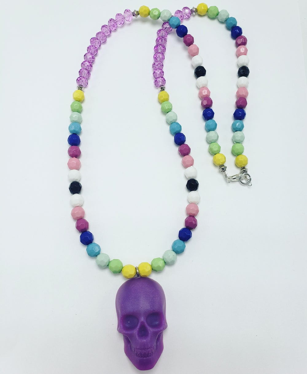 Image of Purple skull necklace