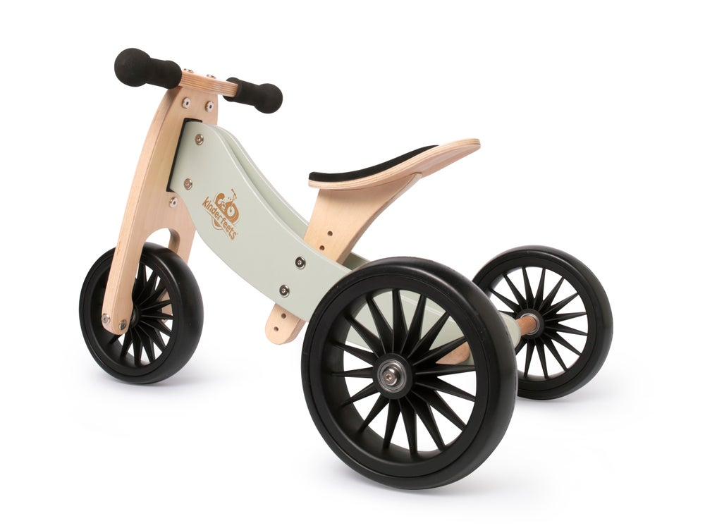 Image of 2-in-1 Tiny Tot PLUS Tricycle & Balance Bike Silver Sage. New color!