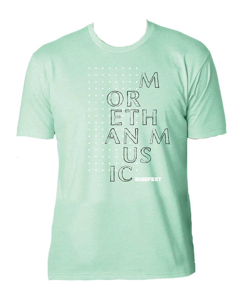 Image of More Than Music Mint T-Shirt
