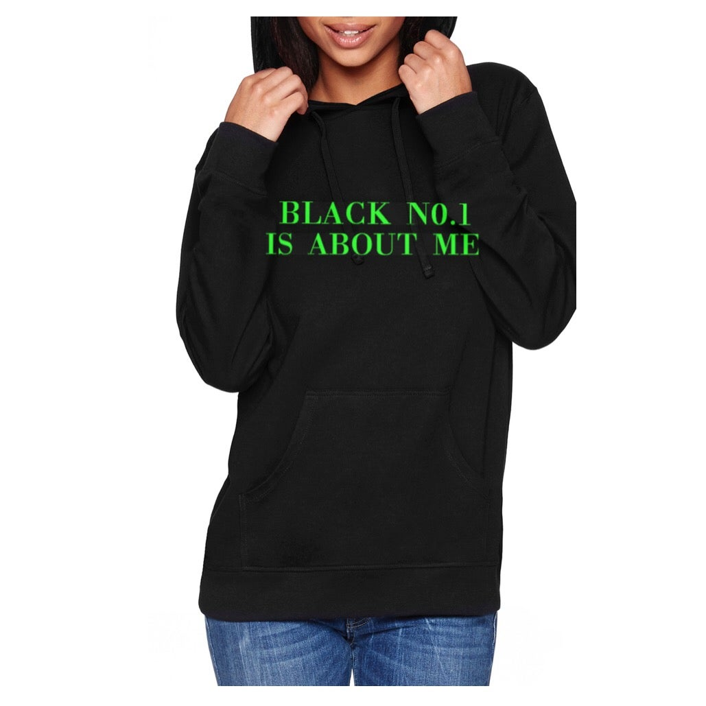 Image of Black No.1 Green Unisex Pullover Hoodie
