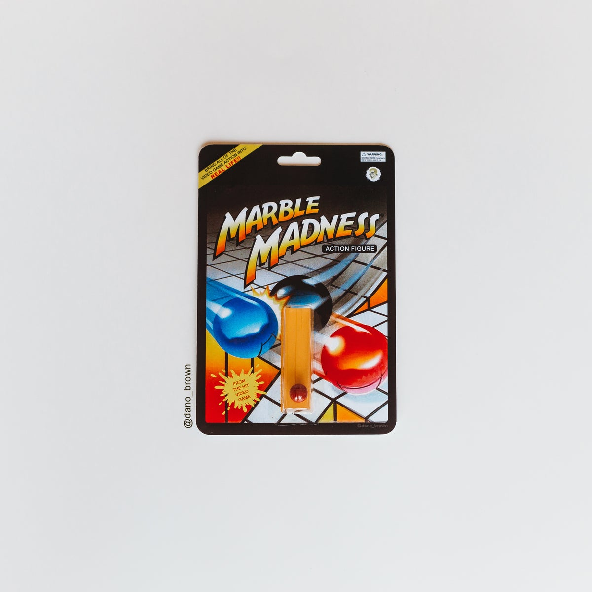 Image of Marble Madness Action Figure (extremely realistic version)