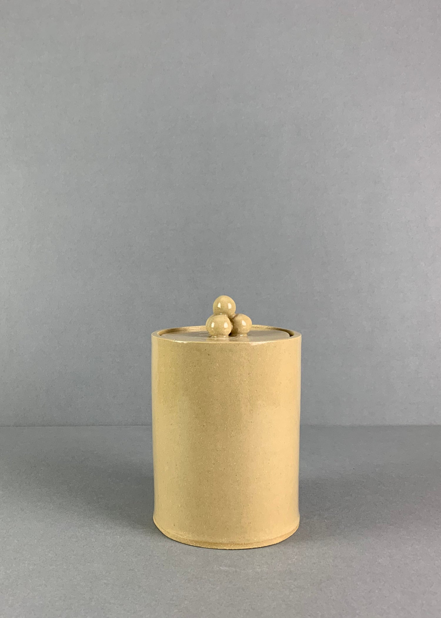Image of Shiny Yellow Bobble Lidded Pot