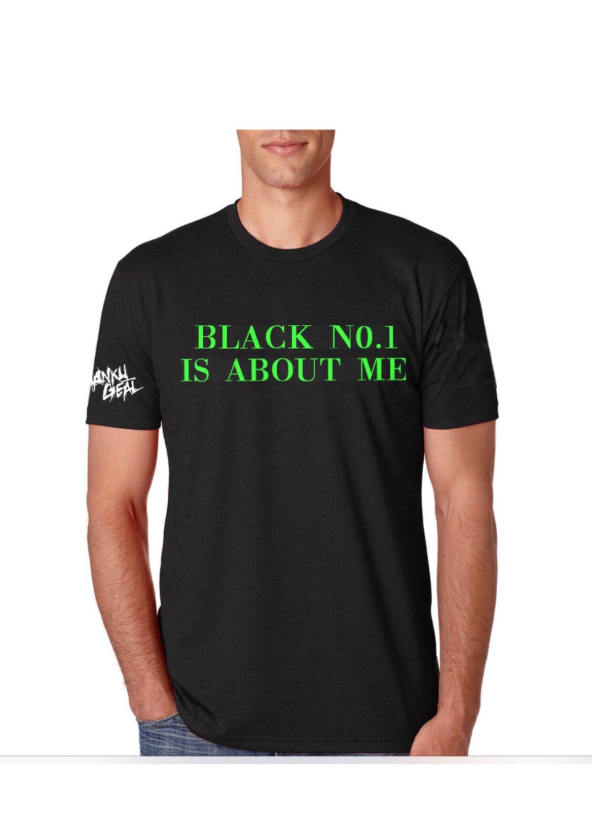Image of Black No.1 Green Mens Tee