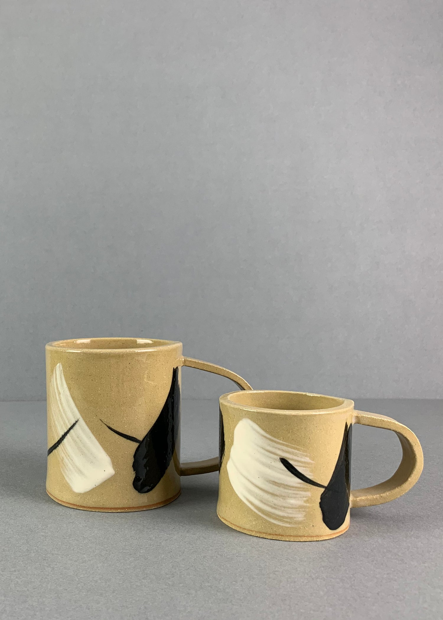 Image of Yellow Painterly Cups