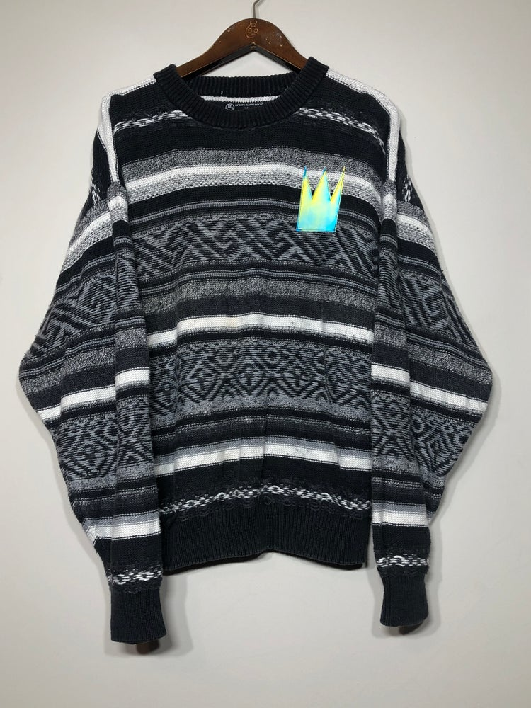 Image of Black & White Sakura Sweater