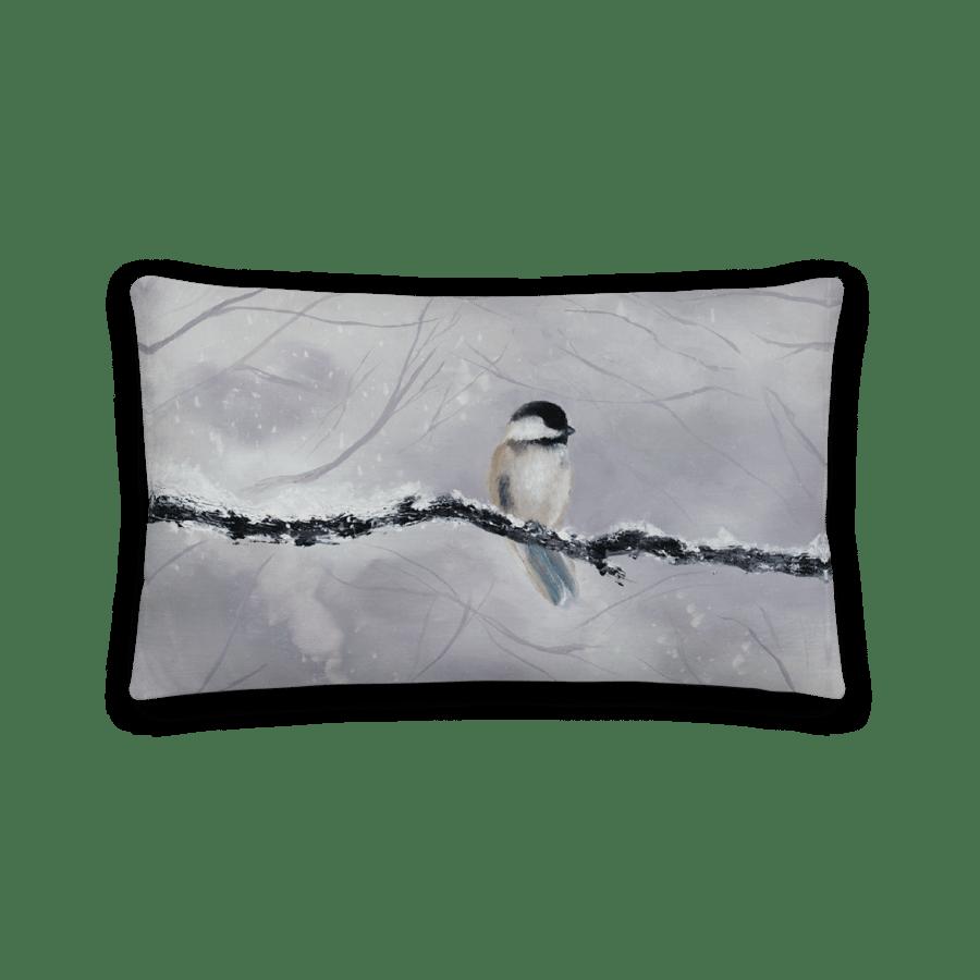 """Image of """"Winter Bird"""" Decorative Throw Pillow"""