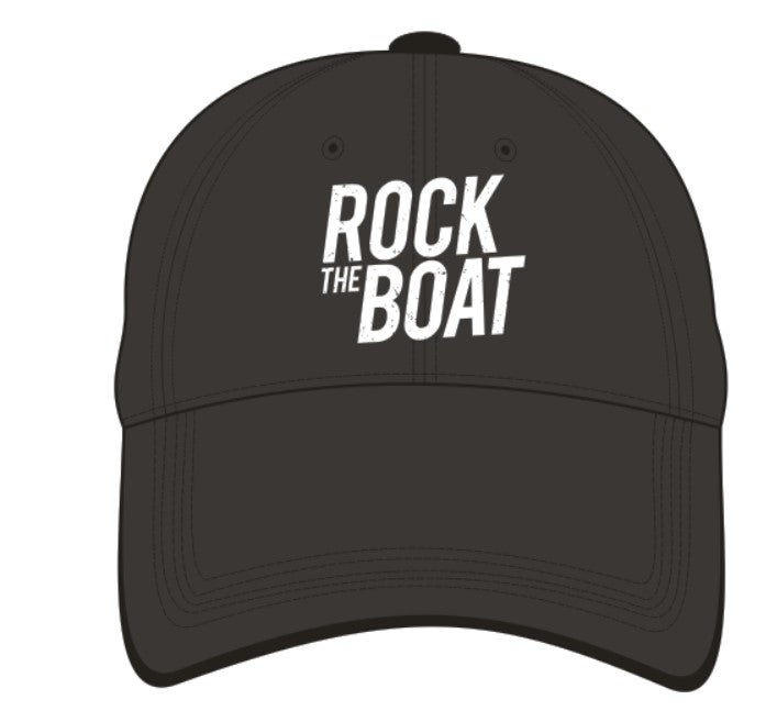 Image of Rock The Boat Embroidered Cap - Black