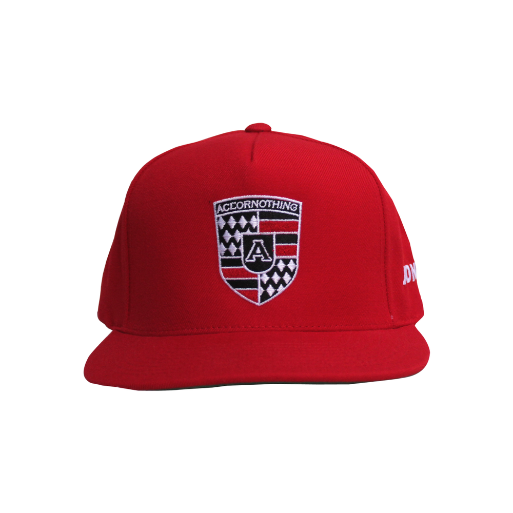Image of Red AON Crest Snapback