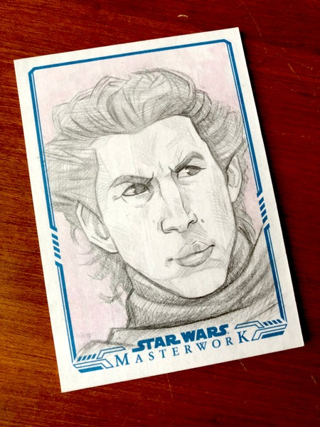 Image of Kylo (official topps sketch card)