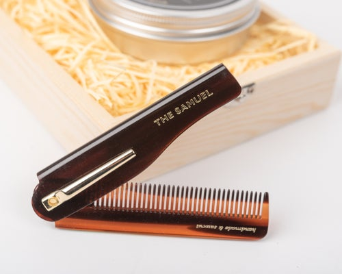 Image of Clay Pomade + Gentleman´s Folding Pocket Comb Wooden Box