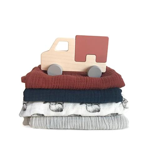 Image of Lange en coton rouille
