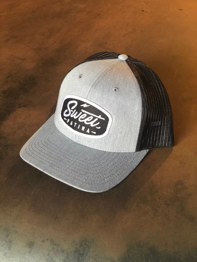 Image of Heather Grey Bolt Patch Hat