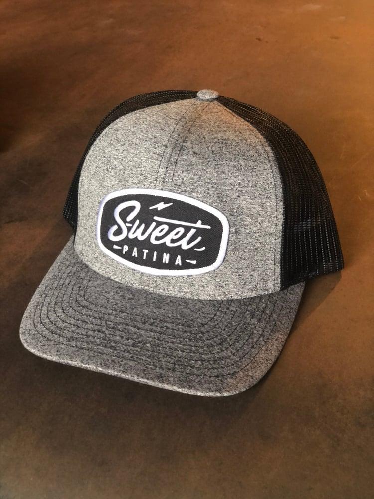 Image of Heather Black on Black Patch hat
