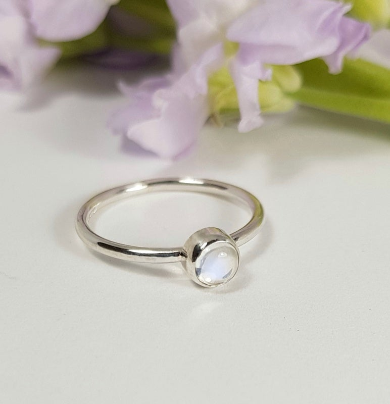 Image of Sterling Silver Moonstone Ring