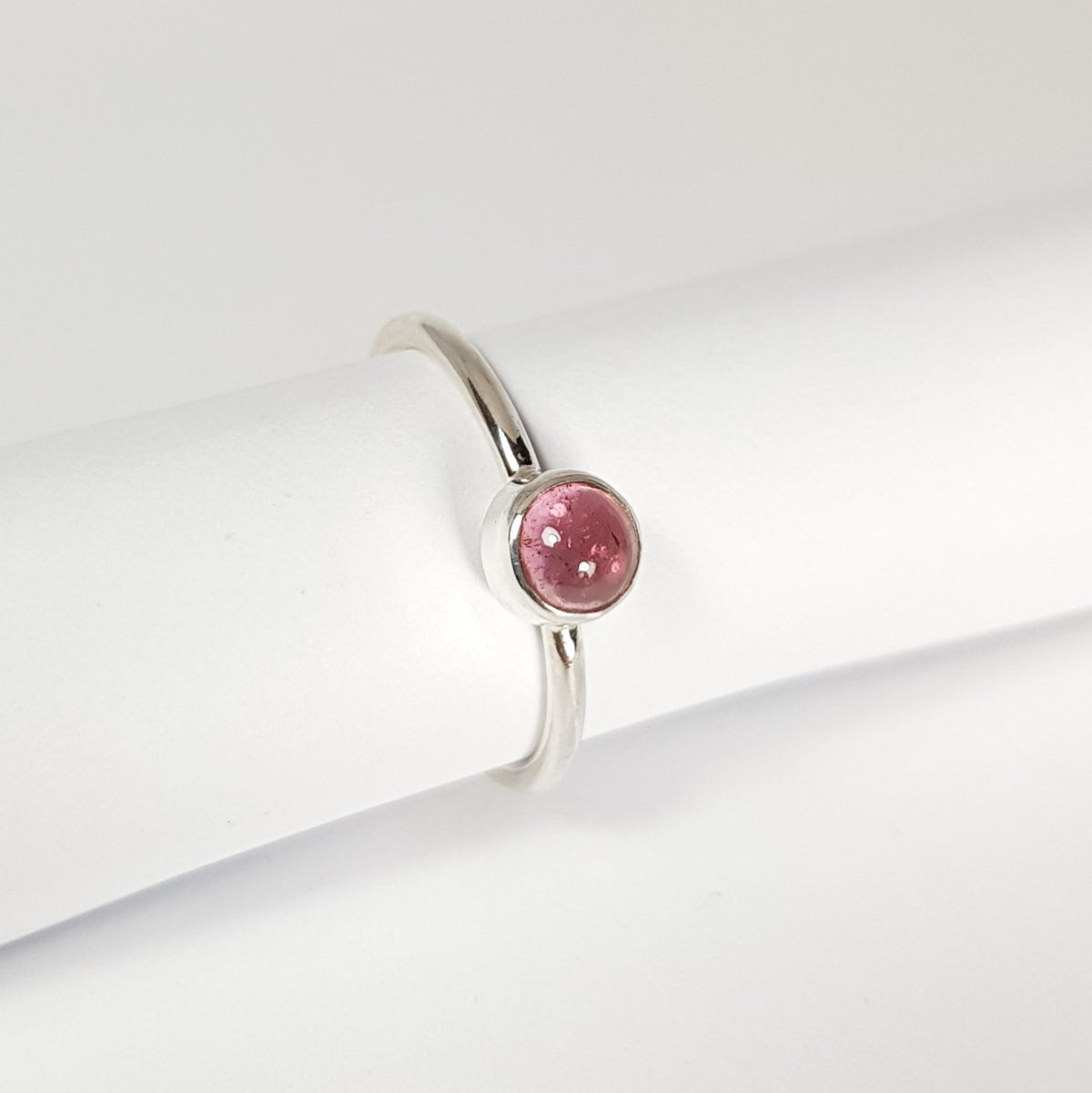 Image of Sterling Silver Pink Tourmaline Ring