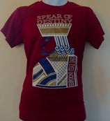 Image of SPEAR OF DESTINY 'OEJ@35' Cardinal Red Prince T-shirt