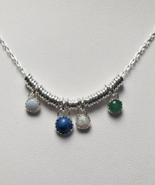 Image of multi stone necklace