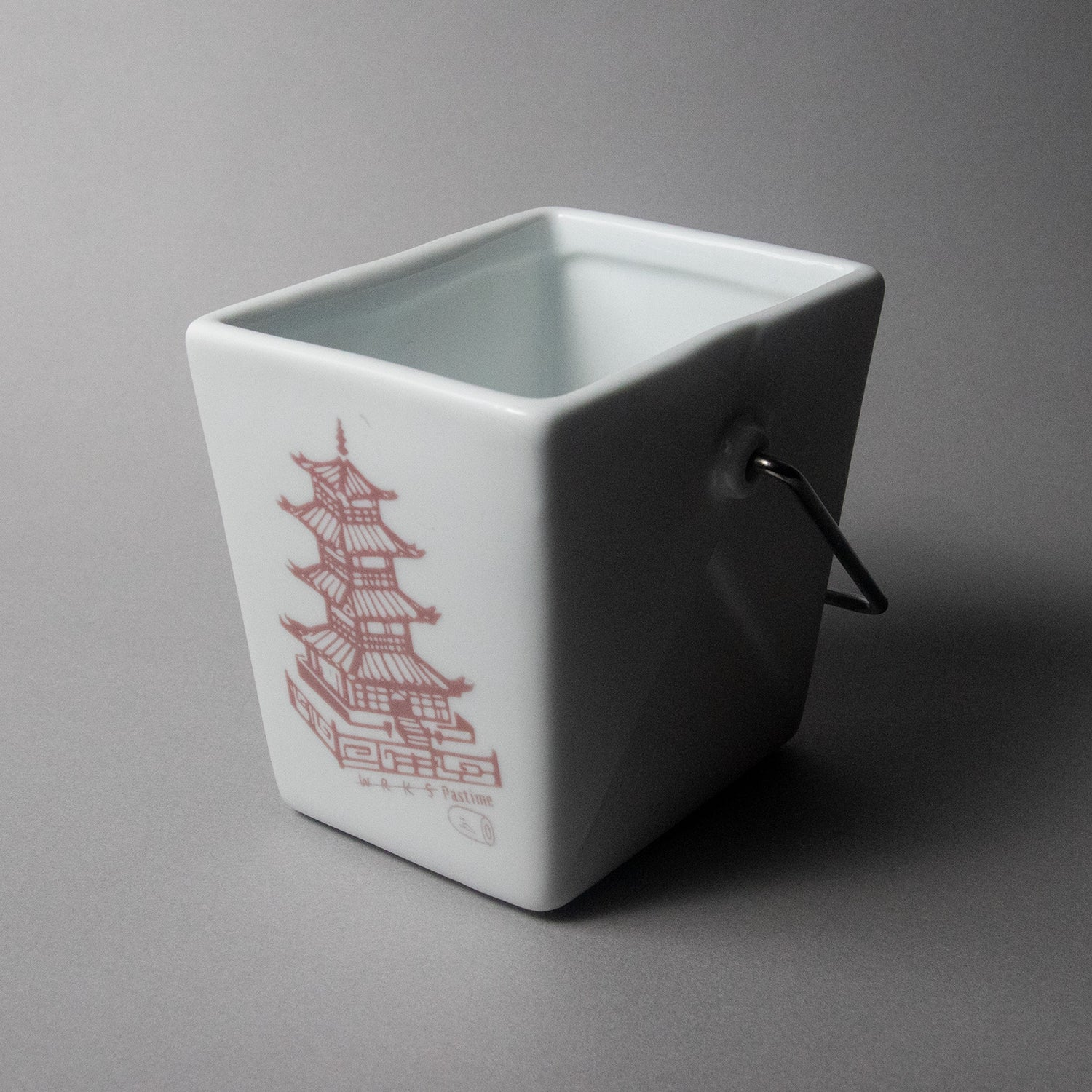 "Image of WRKS Pastime ""Pagoda & Liver"" Porcelain Container"