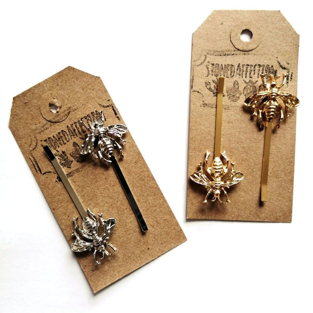 Image of Bumblebee Hair Slides (Pair)