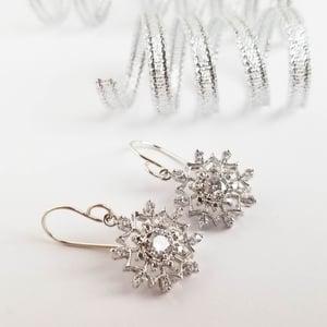 Image of Sparkling Snowflake Earrings