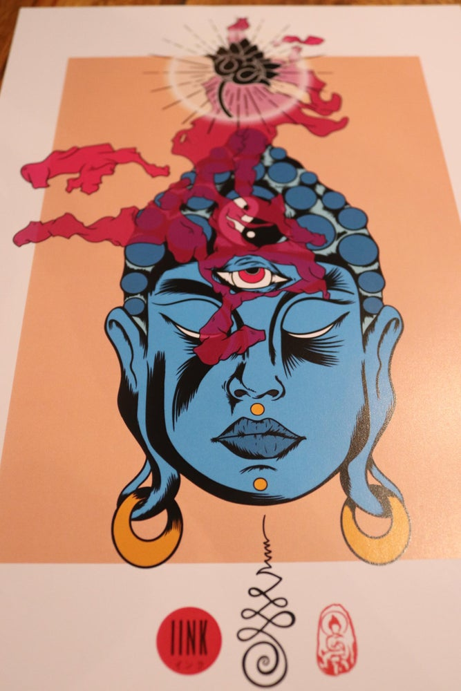 Image of Buddha enlightenment print.