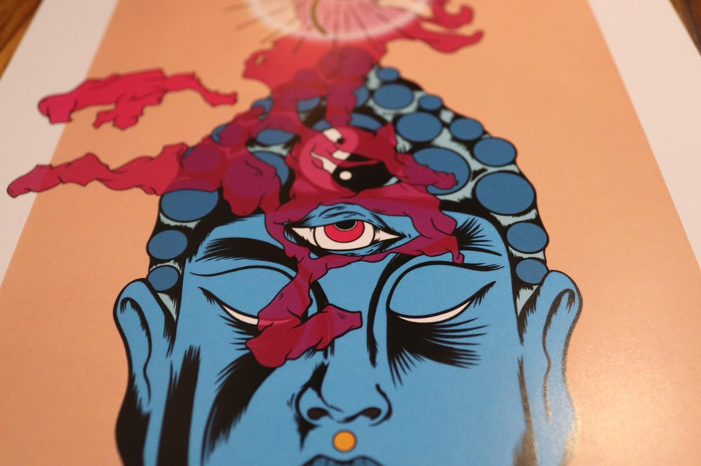 Buddha enlightenment print.