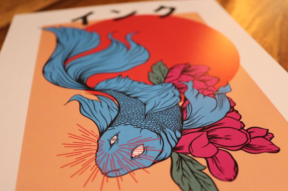 Siamese fish print.