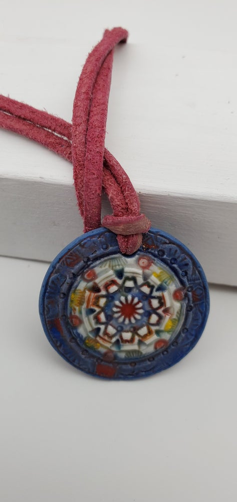 Image of Rasberry Porcelain Pendant