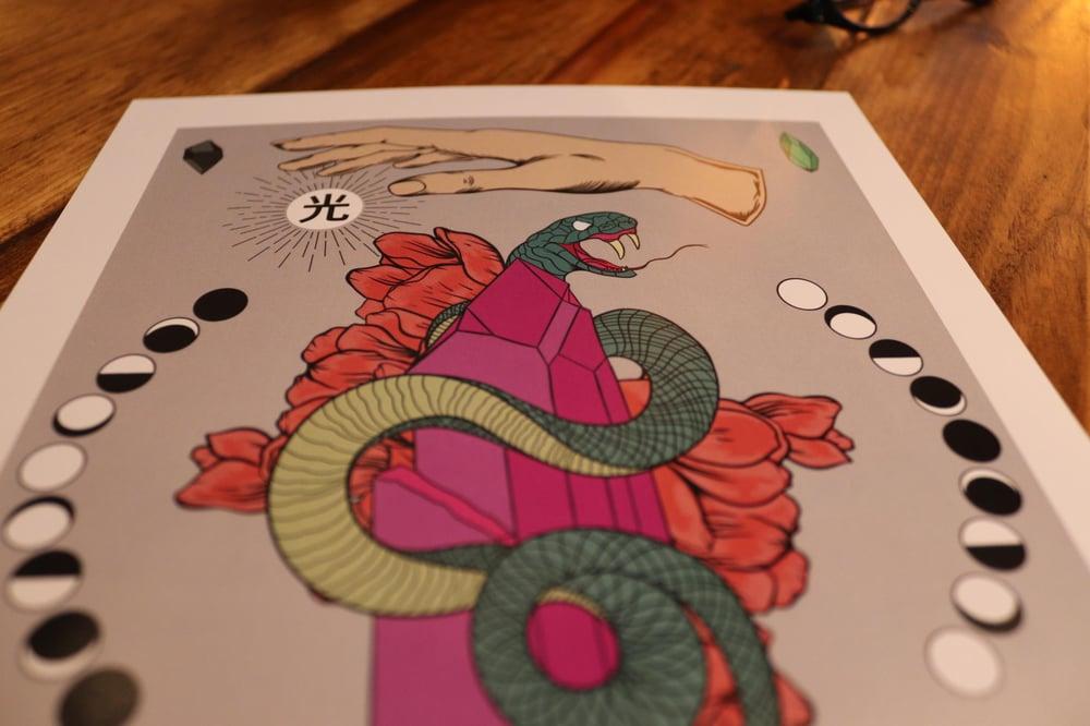 Light and dark snake print