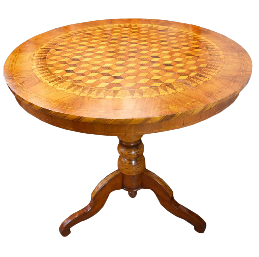 Image of 19th Century Inlaid Walnut Sorrento Table