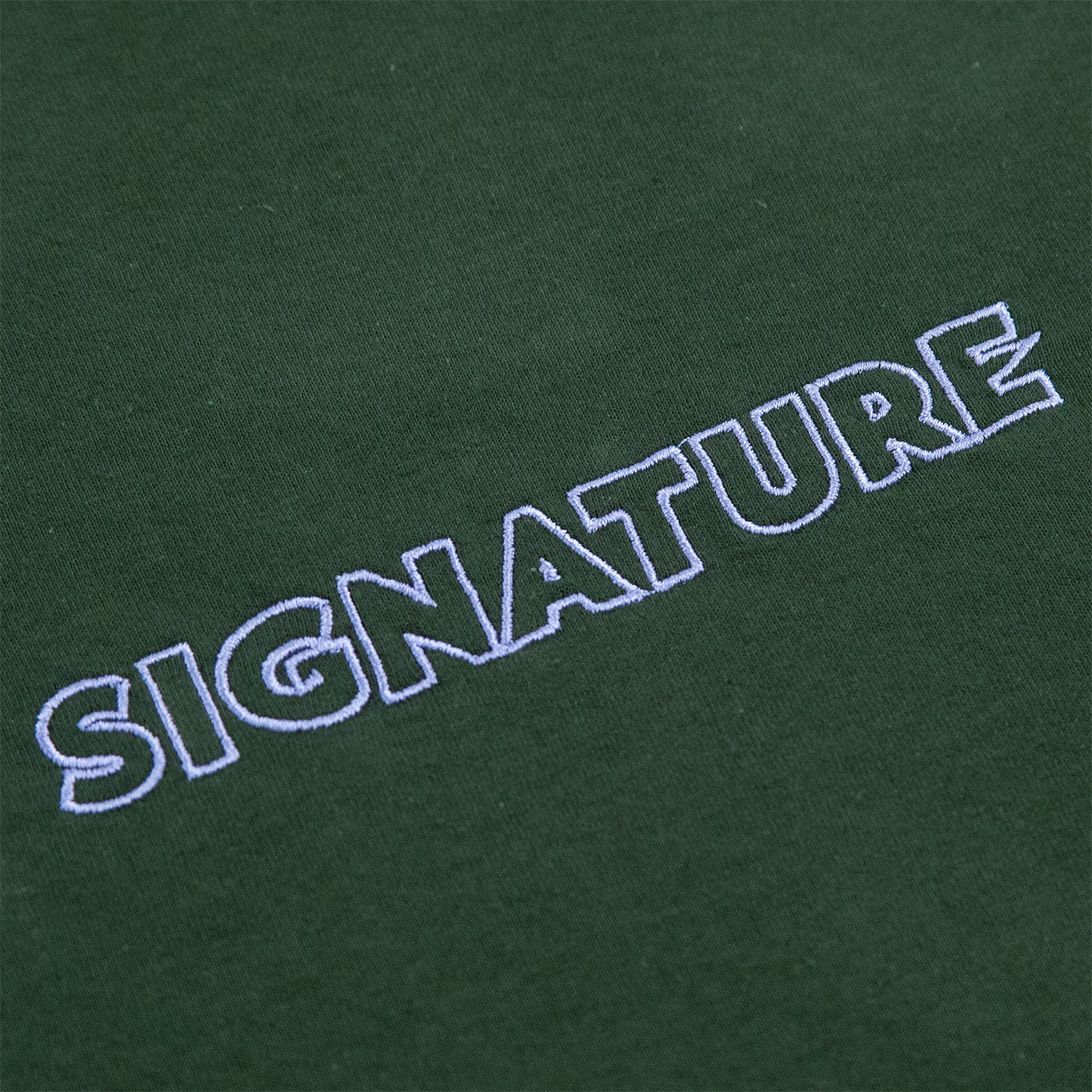 Image of OUTLINE LOGO EMBROIDERED L/S T SHIRT - FOREST GREEN